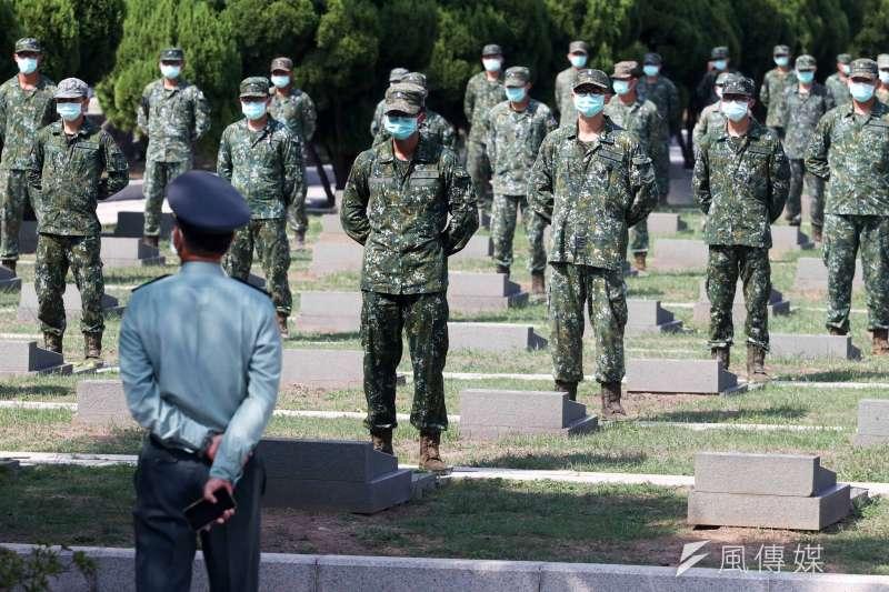 20200823-23日是823砲戰62周年,總統蔡英文赴前往金門國軍太武山公墓致祭,向陣亡將士表達哀悼之意,場面莊嚴肅穆。(蘇仲泓攝)