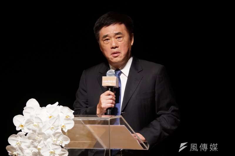 20200823-前台北市長郝龍斌23日出席郝柏村追思會。(盧逸峰攝)