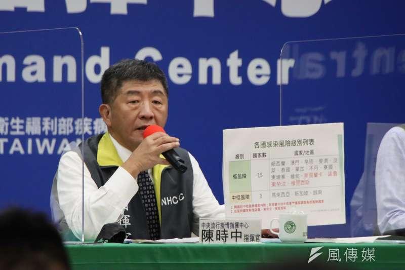 中央流行疫情指揮中心指揮官陳時中宣布,國內7日新增214例新冠肺炎確診病例。(資料照,指揮中心提供)