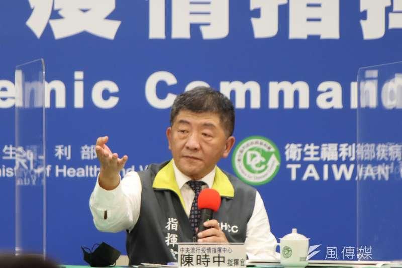 中央流行疫情指揮中心指揮官陳時中(見圖)宣布,國內28日新增2例新冠肺炎確診病例。(資料照,中央流行疫情指揮中心提供)