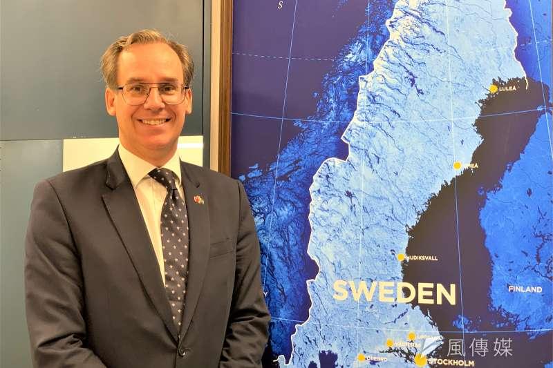 瑞典駐台代表言禾康(簡恒宇攝)