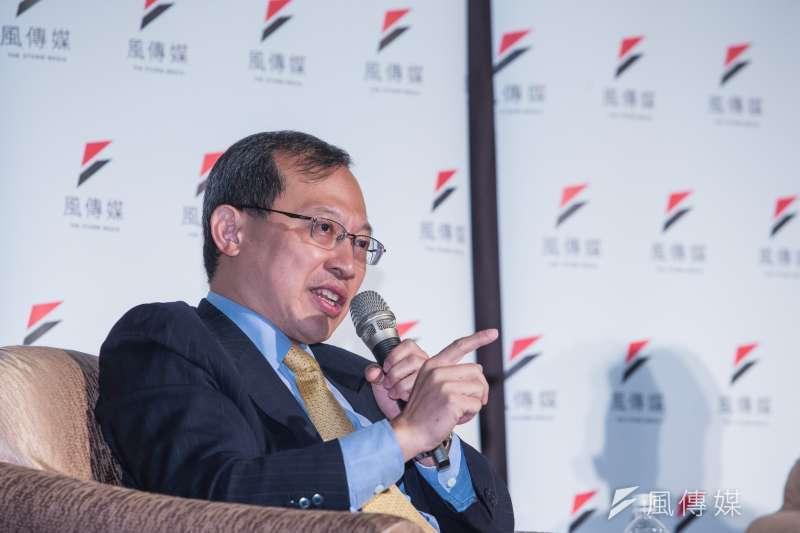 20200827-兩岸政策協會理事長譚耀南27日出席「2020美國總統選戰 X 中美新冷戰」台灣觀戰指南座談會。(顏麟宇攝)