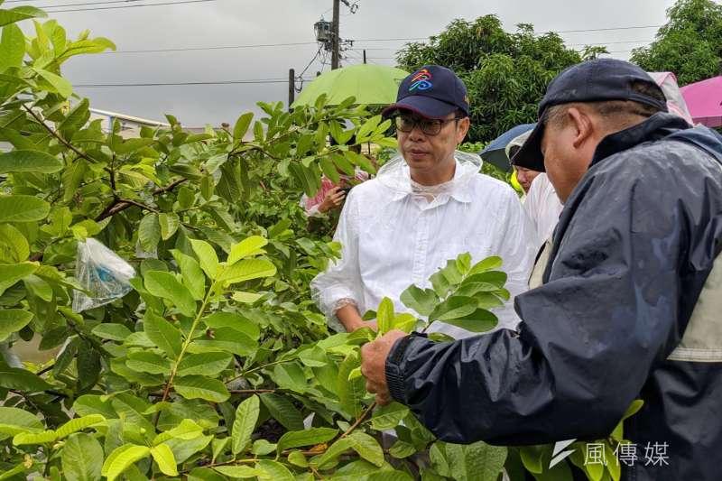 高雄市長陳其邁(右)上月底正式就任,上任至今約半個月,行程滿檔。(資料照,徐炳文攝)