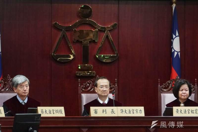 司法院大法官宣示黨產條例聲請釋憲案解釋,圖中為許宗力大法官。(示意圖,蔡親傑攝)
