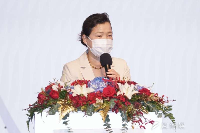 經濟部長王美花今天說重話,嚴正譴責加利為害群之馬,害到國家隊長期營造的榮譽感,「我們覺得他做錯了,還要指責別人,還要怪東怪西」。(盧逸峰攝)