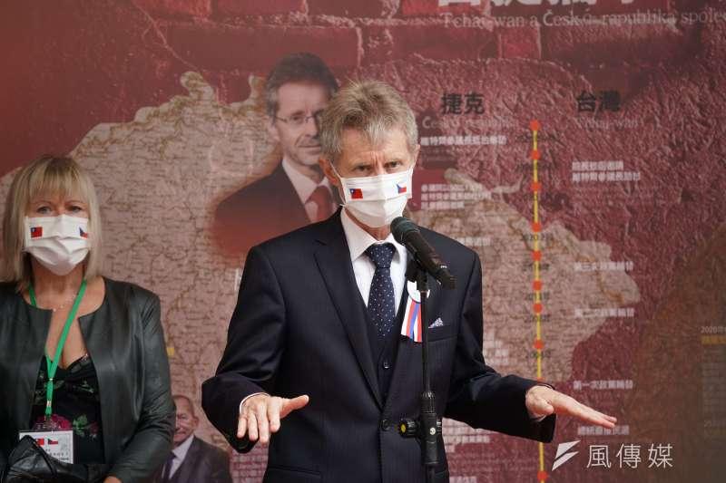 20200901-捷克國會議長維特齊1日參訪立法院,並接受聯訪。(盧逸峰攝)