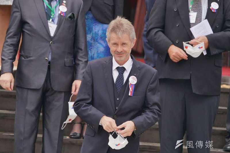 2020年9月1日,捷克參議院議長韋德齊(Miloš Vystrčil)率團參訪立院。(盧逸峰攝)