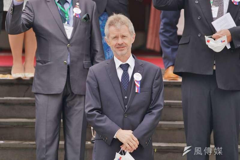 20200901-捷克參議院議長韋德齊(Miloš Vystrčil)1日率團參訪立院。(盧逸峰攝)
