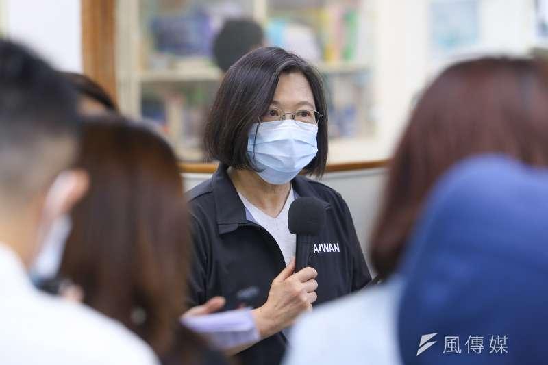總統蔡英文(見圖)在2日民進黨中常會中表示,開放美豬是為了讓台灣在國際上找到更好的方向。(顏麟宇攝)