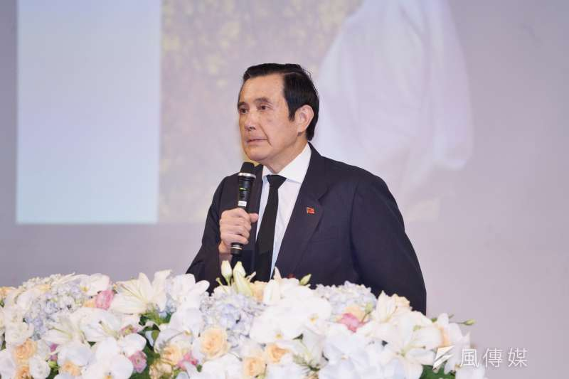 20200903-學者王曉波追思紀念會於3日舉行,前總統馬英九出席致詞。(盧逸峰攝)