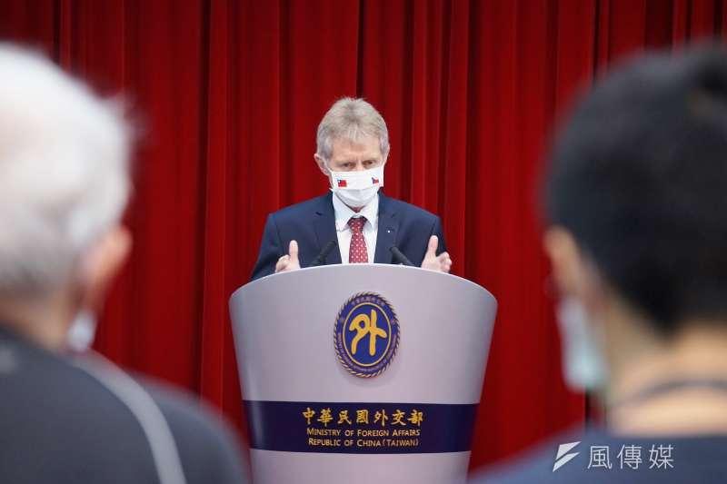 捷克參議院議長韋德齊9月率團訪台,3日出席外交部記者會。(資料照,盧逸峰攝)