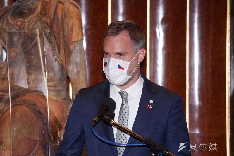 20200904-捷克布拉格市長賀吉普、台北市長柯文哲4日同台出席記者會。(盧逸峰攝)