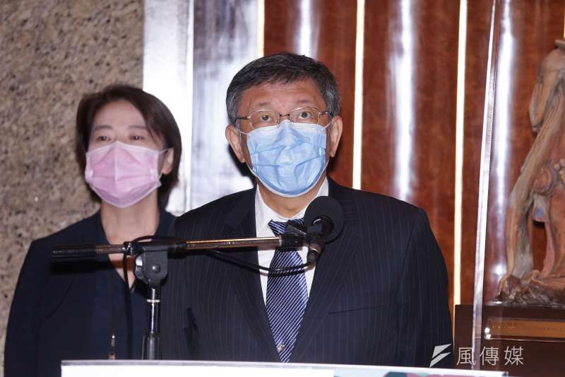 20200904-台北市長柯文哲4日接受媒體聯訪。(盧逸峰攝)