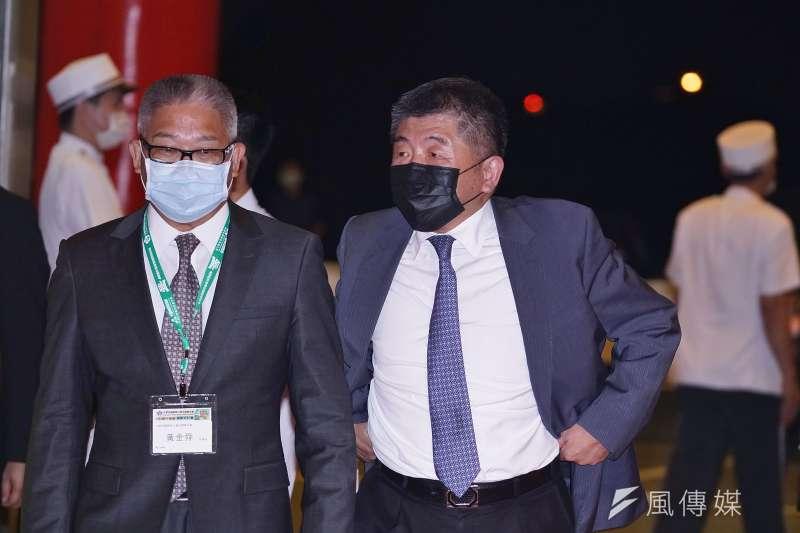20200905-衛福部長陳時中5日出席藥師公會40周年慶晚宴。(盧逸峰攝)