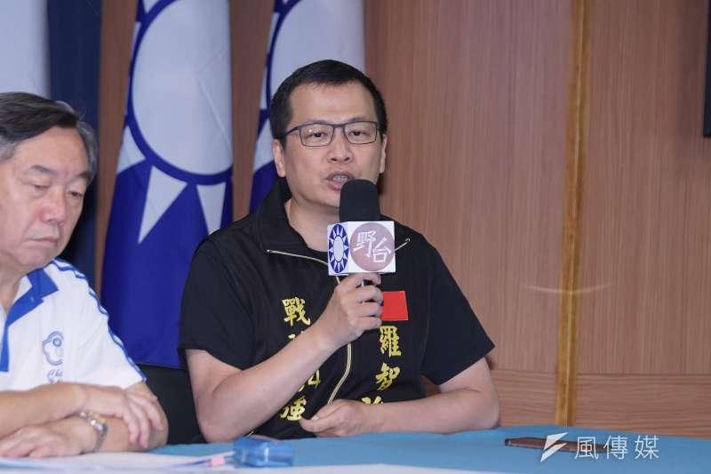 國民黨革實院院長羅智強呼籲蘇貞昌不要當關新聞台的民主罪人。(資料照片,盧逸峰攝)