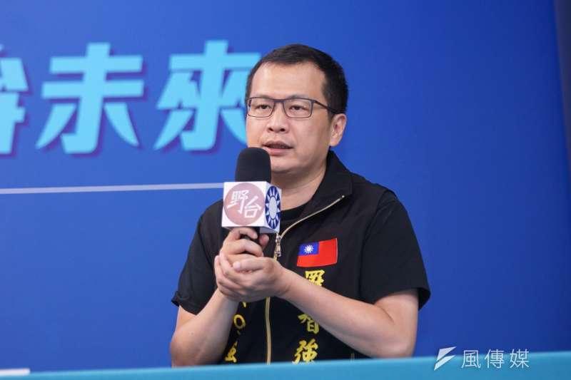 國民黨台北市議員羅智強強調,自己是永遠的和平派,反對武嚇與武統。(資料照,盧逸峰攝)