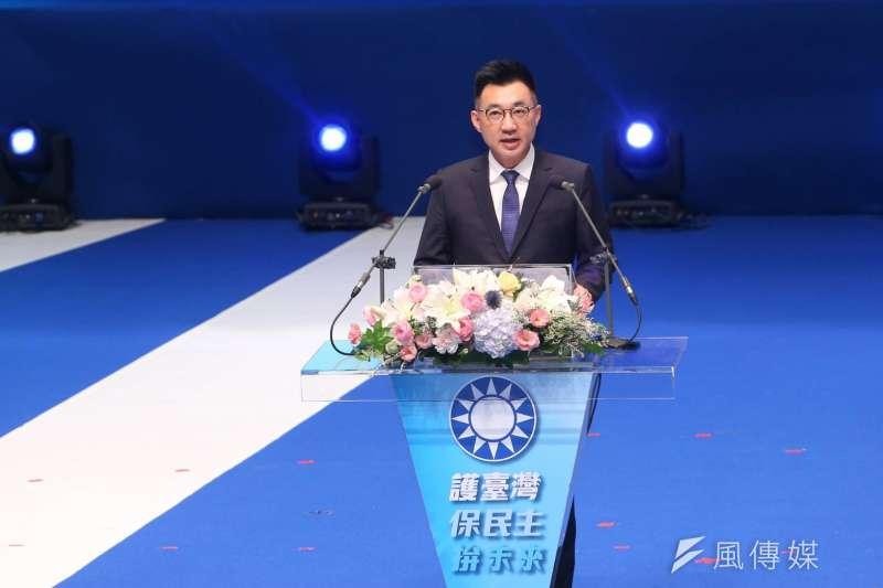 國民黨6日召開全代會,黨主席江啟臣擬推出8項兩岸主張,堅持《中華民國憲法》的九二共識。(顏麟宇攝)