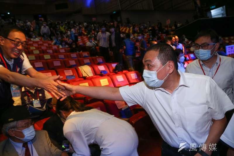 針對國民黨北市黨部證實,立委蔣萬安表態參選下屆台北市長,新北市長侯友宜受訪時也做出回應。(顏麟宇攝)
