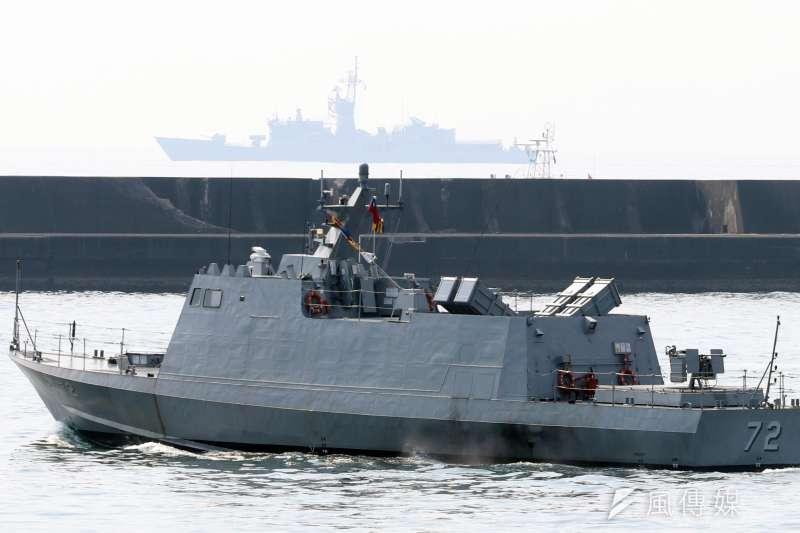 外傳微型飛彈突擊艇建案「喊卡」,海軍表示,需待原型艇完成合約設計及模擬載台測試,並向立法院專案報告獲同意後,始可啟動建造。圖為光六飛彈快艇。(資料照,蘇仲泓攝)
