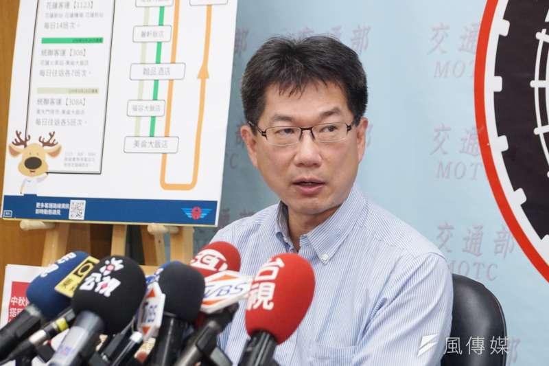 20200908-公路總局8日舉行記者會,副總工程司李忠璋出席。(盧逸峰攝)