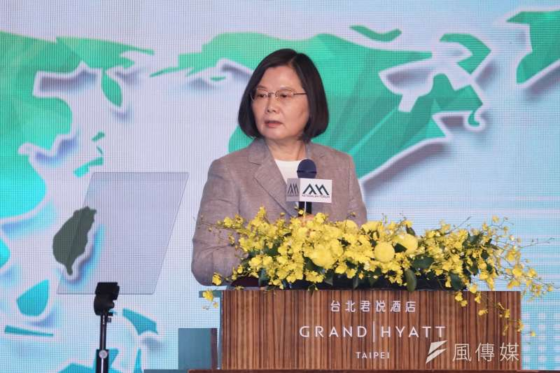 總統蔡英文8日出席「凱達格蘭論壇──2020亞太安全對話開幕典禮」,並發表演說。(盧逸峰攝)