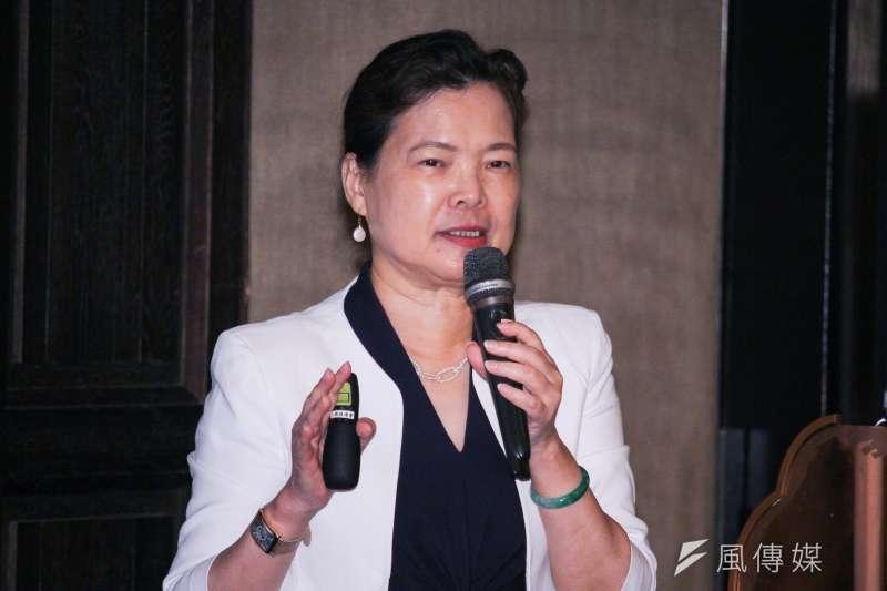 經濟部長王美花9日出席「工商協進會理監事聯席會議」並發表專題演講。(蔡親傑攝)