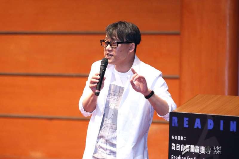 林夕出席「為自由而讀論壇」時感嘆,今日的香港講獨立思考會被打成港獨。(柯承惠攝)
