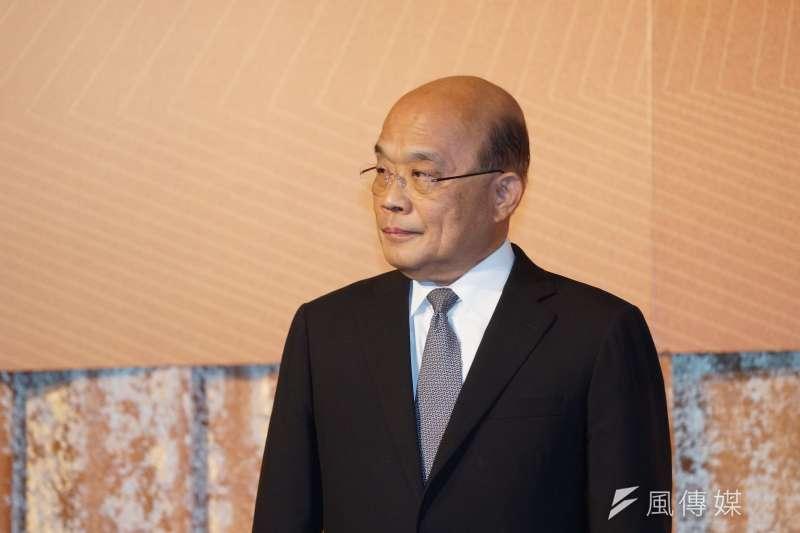 行政院長蘇貞昌上周把空汙防制2020年就該達到的15微克目標,無預警拖延了三年,要到2023年才要達到。(盧逸峰攝)