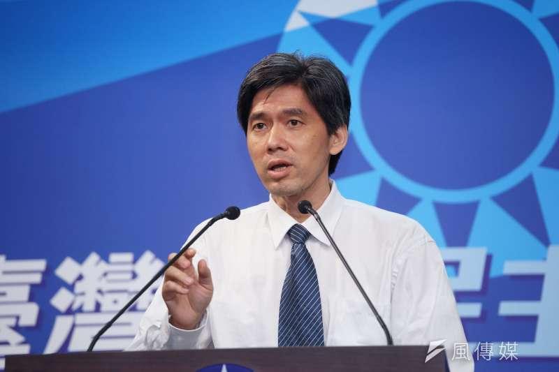 20200914-國民黨大陸事務部主任左正東14日回應海峽論壇事宜。(盧逸峰攝)