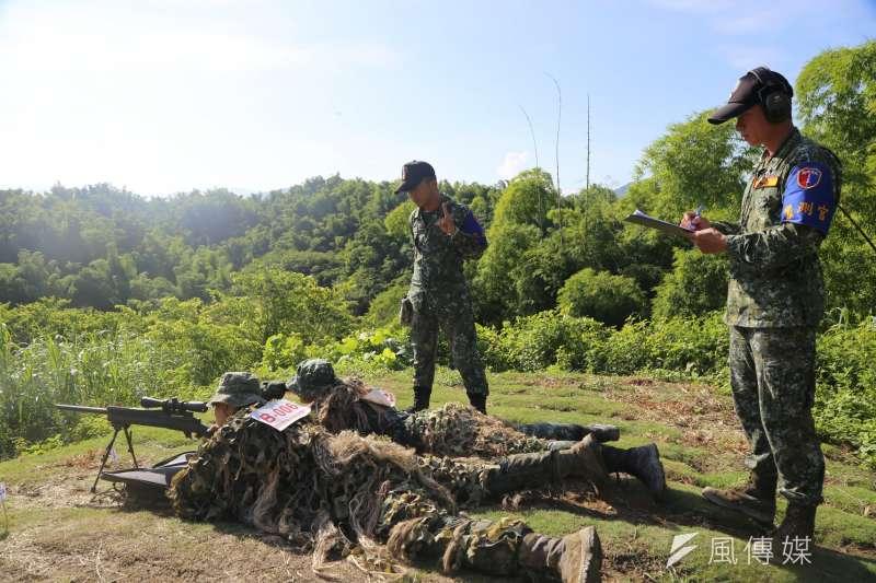 20200915-陸軍花防部狙擊組以國造T93狙擊槍進行射擊。(取自陸軍司令部)