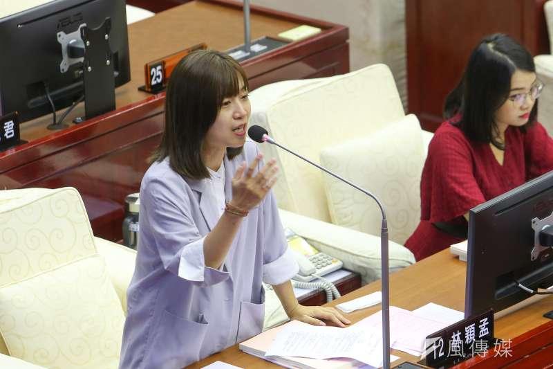 20200917-台北市議員林穎孟17日於市議會質詢。(顏麟宇攝)