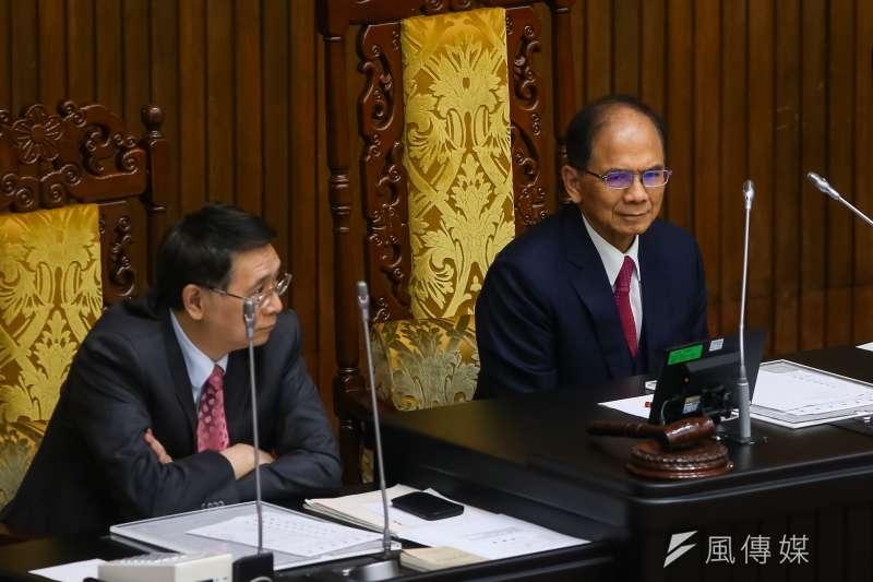 20200918-立法院長游錫堃18日主持院會。(顏麟宇攝)