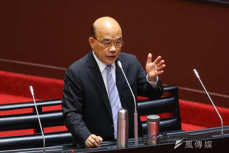 海巡署長陳國恩請辭,一說是七月間他在業務會報時被蘇貞昌駡臭頭。(顏麟宇攝)