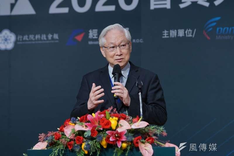 20200921-台灣人工智慧晶片聯盟(AITA)21日舉行會員大會,科技部長吳政忠發言。(盧逸峰攝)