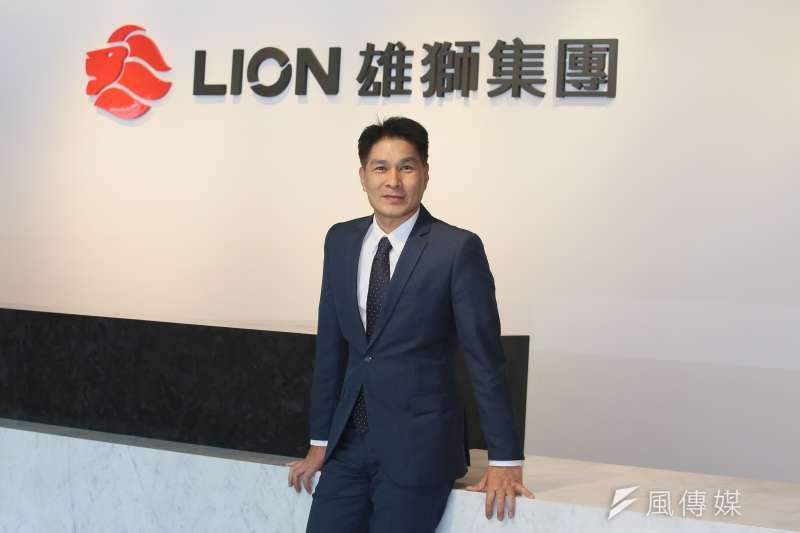 雄獅旅遊品牌策略總經理游國珍指出,旅遊產業太脆弱,雄獅要透過根本性轉型,提升整體毛利率。(柯承惠攝)