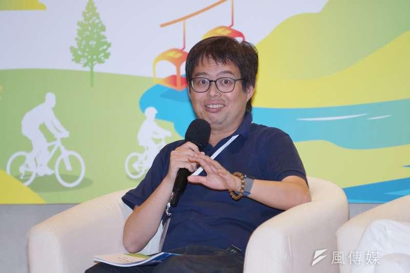 20200922-台灣鐵道觀光協會22日邀請專家學者針對鐵道觀光議題座談,圖為國家鐵道博物館籌備處主任洪致文。(盧逸峰攝)