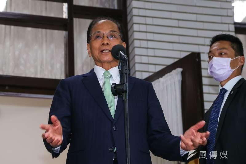 針對立委收賄案,立法院長游錫堃22日接受媒體聯訪。(顏麟宇攝)