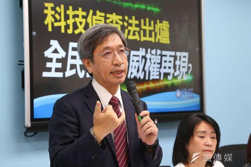 司改會董事長林永頌(左)強調「沒有政治立場」。(顏麟宇攝)