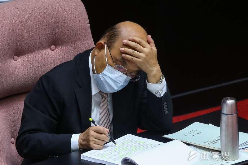 20200925-行政院長蘇貞昌25日出席立法院會。(顏麟宇攝)