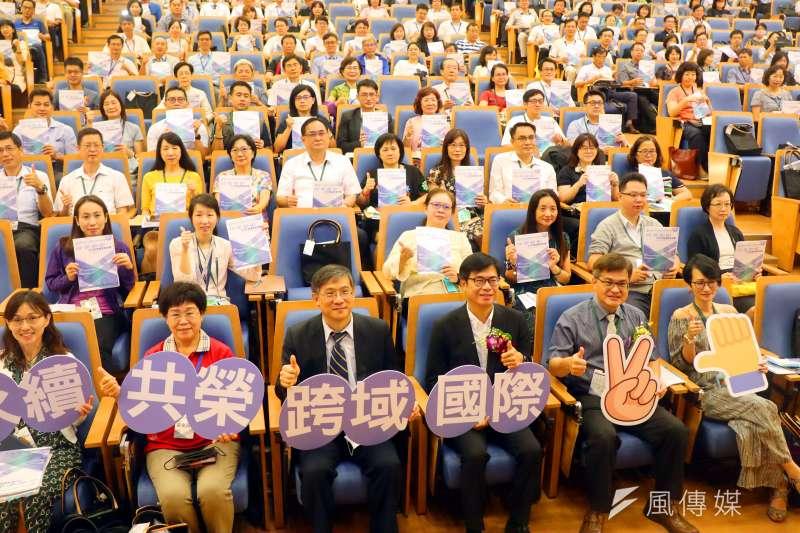 高市各級學校校長聯席會議以「國際、跨域、共榮、永續-2030高雄教育想像」為會議主軸。(圖/徐炳文攝)