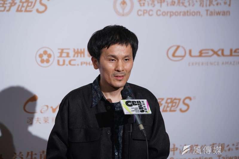 20200926-金鐘獎頒獎典禮26日舉行,導演靳家驊發表感言。(盧逸峰攝)