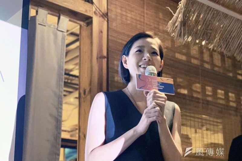 10月31日將登場的同志大遊行,由知名歌手安溥(見圖)擔綱「彩虹大使」。(謝孟穎攝)