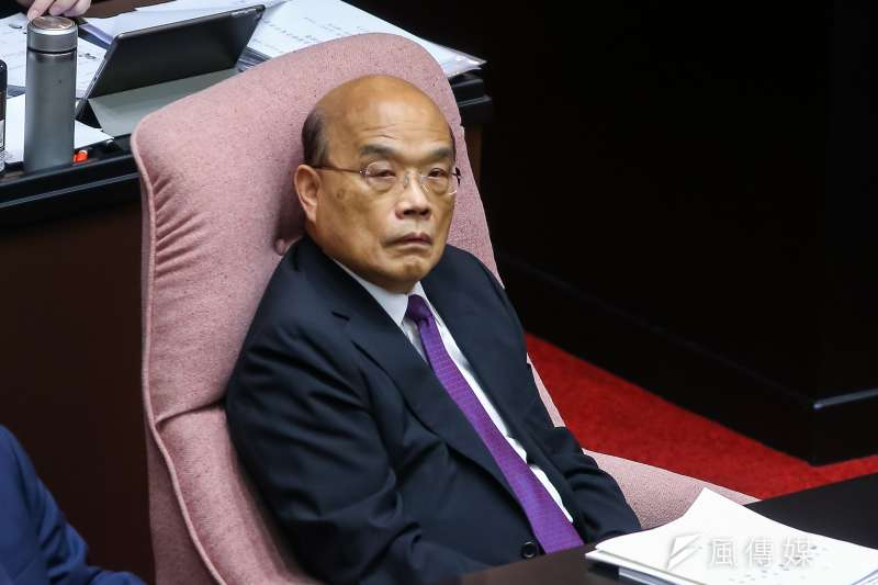 國民黨台北市議員王鴻薇批評,台南、高雄的治安已經爛到局長都受不了,行政院長蘇貞昌(見圖)卻「裝睡裝死到底。」(資料照,顏麟宇攝)