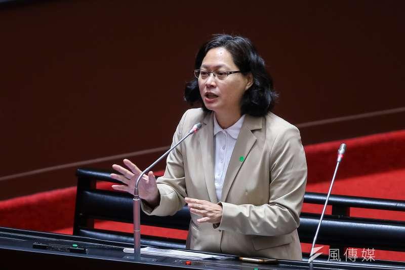 20200929-民眾黨立委賴香伶29日於立院質詢。(顏麟宇攝)