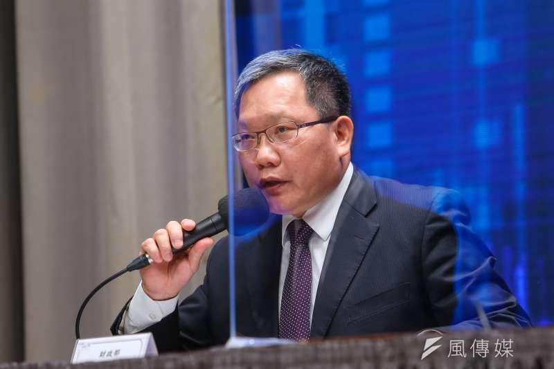 20200930-財政部長蘇建榮30日召開「台美基礎建設融資及市場建立合作架構說明記者會」。(顏麟宇攝)