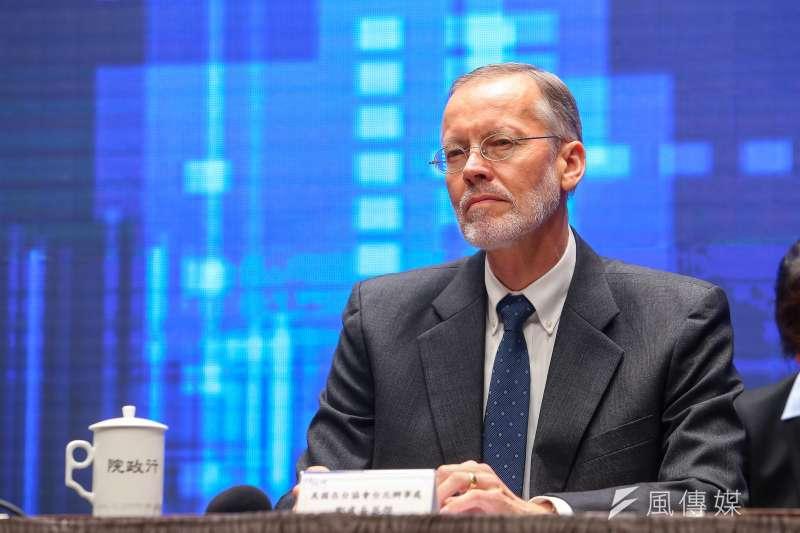 20200930-AIT美國在台協會處長酈英傑30日出席「台美基礎建設融資及市場建立合作架構說明記者會」。(顏麟宇攝)