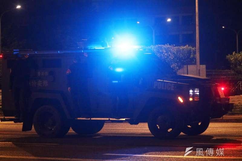 20200930-今年6月首度曝光,目前國內僅此一輛,由維安特勤隊操作的輕型輪式裝甲車。(蘇仲泓攝)