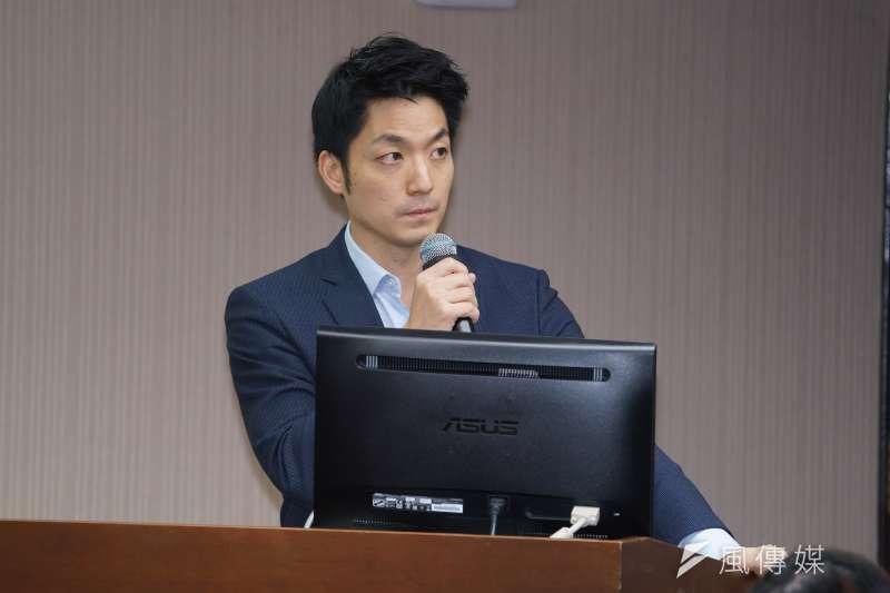 國民黨立委蔣萬安30日於衛環委員會質詢。(資料照,盧逸峰攝)