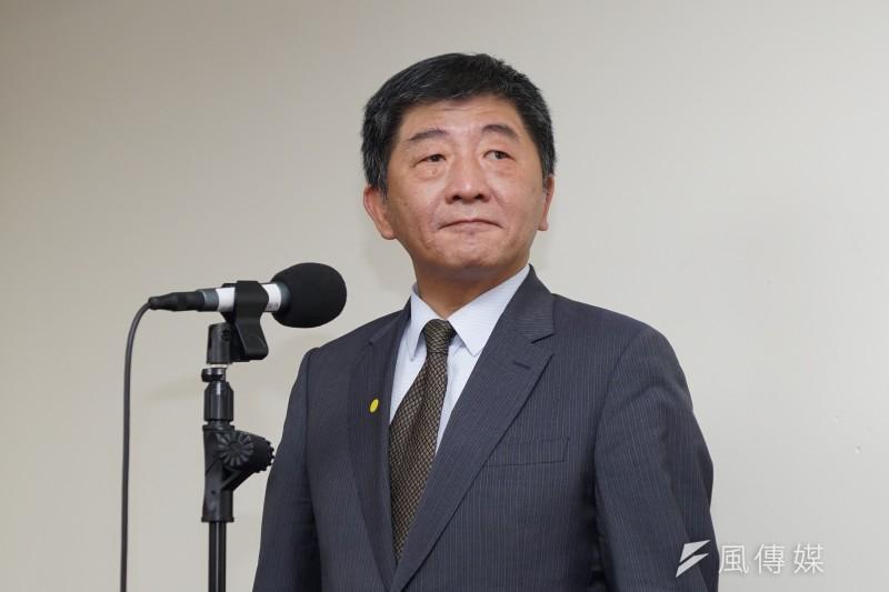 筆者認為若衛福部長陳時中(見圖)欲挑戰台北市長大位,仍有幾點待克服,否則對整體政治發展將無益處。(資料照,盧逸峰攝)