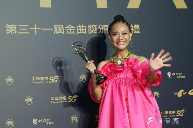 202001003-第31屆金曲獎,最佳原住民語專輯獎阿爆。(顏麟宇攝)